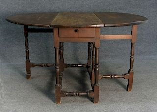 NEW ENGLAND EARLY 18THC. LATE 17THC. MAPLE