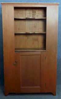 OPEN TOP CUPBOARD IN RED WASH