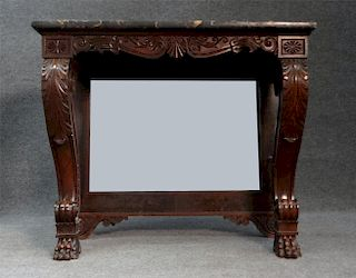 BOSTON CLASSICAL CONSOLE TABLE W/ BLACK MARBLE TOP