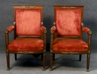 """PR OF FRENCH EMPIRE BERGERES 40"""" TALL"""