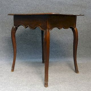 18THC. FRENCH COUNTRY TAP TABLE W/ MOLDED TOP