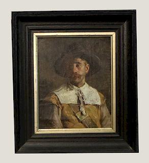 O/C PORTRAIT OF A DUTCH MERCHANT SGND HENRY