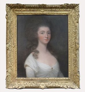 O/C 18THC. OR EARLY 19THC. PORTRAIT OF A LADY