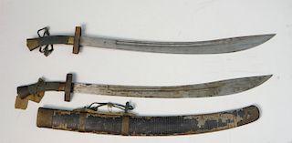 19THC. SHUANGNIUWEIDAO OXTAIL DAO SWORDS