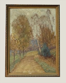 """O/BD GUSTAVE WIEGAND """"OCTOBER SCENERY""""  W/ 1917"""