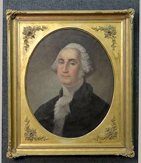 O/C 19THC. PORTRAIT GEORGE WASHINGTON C.1830 UNSGD