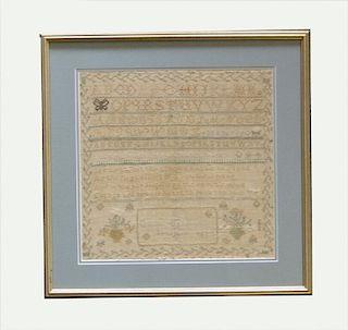 AMERICAN SAMPLER BY EMELLA STANLEY, 1837 (DMG)