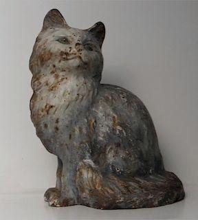 CAST IRON HUBLEY FULL FIGURED CAT DOORSTOP