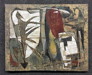 """O/C STANLEY BATE """"SALOME III"""" ABSTRACT UNFRAMED"""
