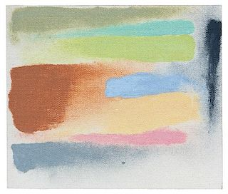 * Friedel Dzubas, (American/German, 1915-1994), To Feely Xmass (Sketch), 1972
