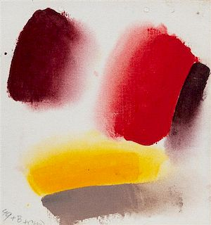 * Friedel Dzubas, (American/German, 1915-1994), Pursuit II (Sketch), 1972