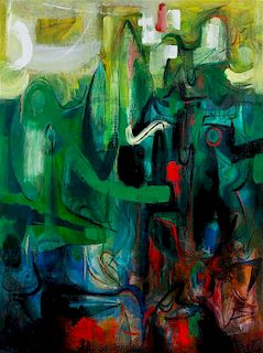 * Byron Browne, (American, 1907-1961), Garden of Desires, 1953