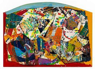 Sam Gilliam, (American, b. 1933), Untitled, 1989