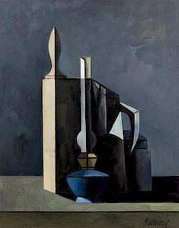 * Duillo Barnabe, (Italian, 1914-1961), Still Life with Lamp, c. 1958