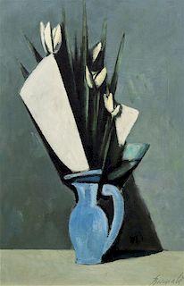 * Duillo Barnabe, (Italian, 1914-1961), Flowers in a Blue Vase, c. 1959