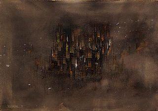 * Leonardo Nierman, (Mexican, b. 1932), Cityscape, 1959