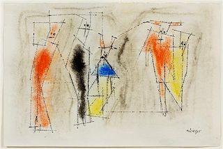 * Lyonel Feininger, (German/American, 1871-1956), Ghosties, 1950