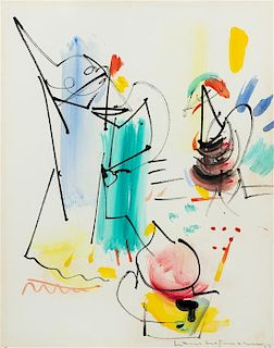 Hans Hofmann, (American/German, 1880-1966), Boat Study at Provincetown, Mass, 1953