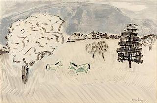 Milton Avery, (American 1885-1965), Country Horses, 1962