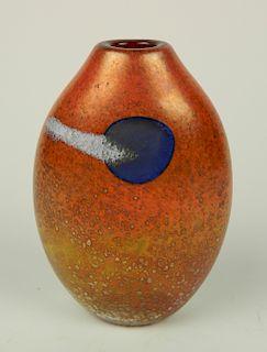 Norman Stuart Clarke glass vase