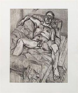 Lucian Freud, (British, 1922-2011), Man Posing, 1985
