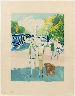 * Jacques Villon, (French, 1875-1963), Avenue du Bois (after Kees van Dongen)