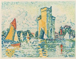 * Jacques Villon, (French, 1875-1963), Le Port de la Rochelle (after Paul Signac)