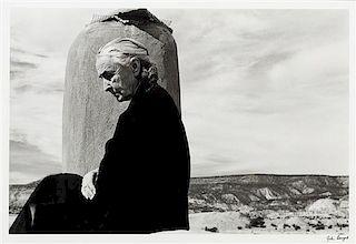 John Loengard, (American, b. 1934, Georgia O'Keeffe Roof at Ghost Ranch, New Mexico, 1967