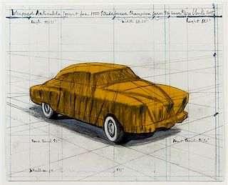 Christo and Jeanne-Claude, (American, b. 1935), Wrapped Automobile, Project for 1950 Studebaker Champion, 2015