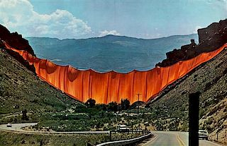 Christo and Jeanne-Claude, (American, b. 1935), Wrapped Walkway: Kansas City, Missouri and Valley Curtain