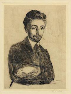 * Edvard Munch, (Norwegian, 1863-1944), Portrait of Helge Rode, 1898