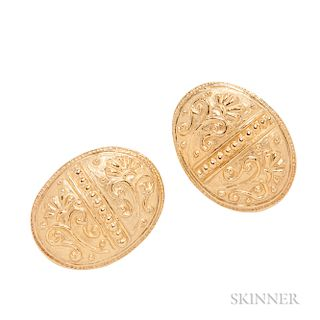 High-karat Gold Earclips