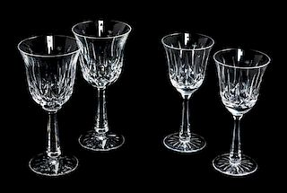 A Set of Twelve Waterford Stemware Height of taller 7 1/2 inches.