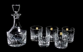 * A Saint Louis Decanter and Lowball Set Height of decanter