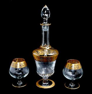 * A Saint Louis Glass Decanter Height of decanter 15 1/2 inches.