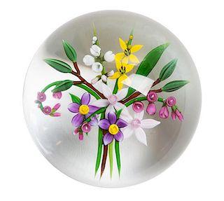 An Art Glass Paperweight Height 2 1/4 x diameter 3 inches.