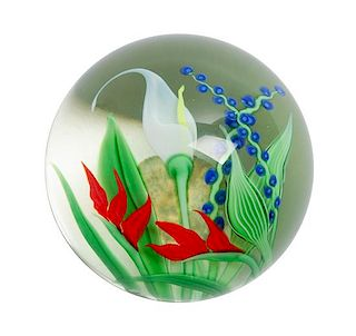 An Art Glass Paperweight Height 2 1/4 x 3 inches.