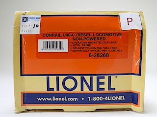 Lionel Conrail U30-C Diesel Locomotive Non-Powered