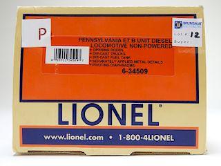 Lionel Pennsylvania E7 B Unit Diesel Locomotive