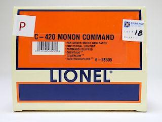 Lionel C-420 Monon Command Locomotive O Train