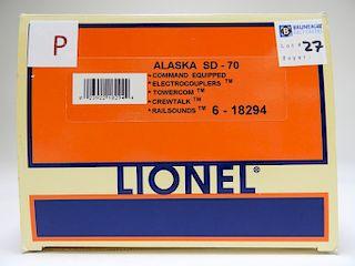 Lionel Alaska SD-70 Electric Model O Gauge Train