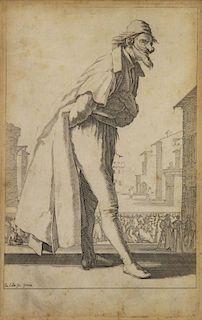 "CALLOT, Jacques. ""Pantalon"". Etching on Laid Paper"