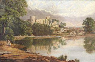 """BEETHOLME, George. Oil on Canvas. """"Barnard Castle"""""""