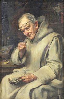 CREIFELDS, Richard. Oil on Canvas. Monk with