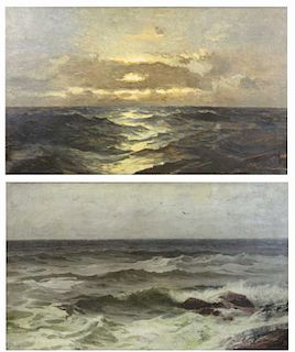 Two 19th/20th C. Oil on Canvas Seascapes.