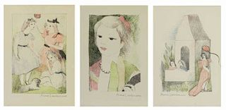LAURENCIN, Marie. Three (3) Color Lithographs.