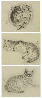 FOUJITA, Leonard Tsuguharu. Three (3) Collotypes