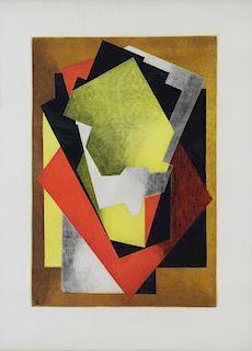VILLON, Jacques. Color Aquatint. Composition.