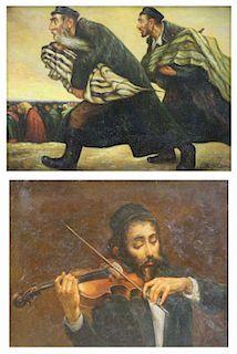 NEILSON, R. Two Judaic Oils on Panel.