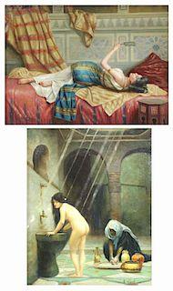 NEILSON, R. Two Orientalist Oils on Panel.